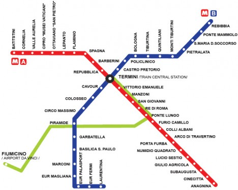 Rome Metro Map / Subway Map